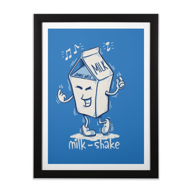 Milk-Shake Home Framed Fine Art Print by YiannZ's Artist Shop