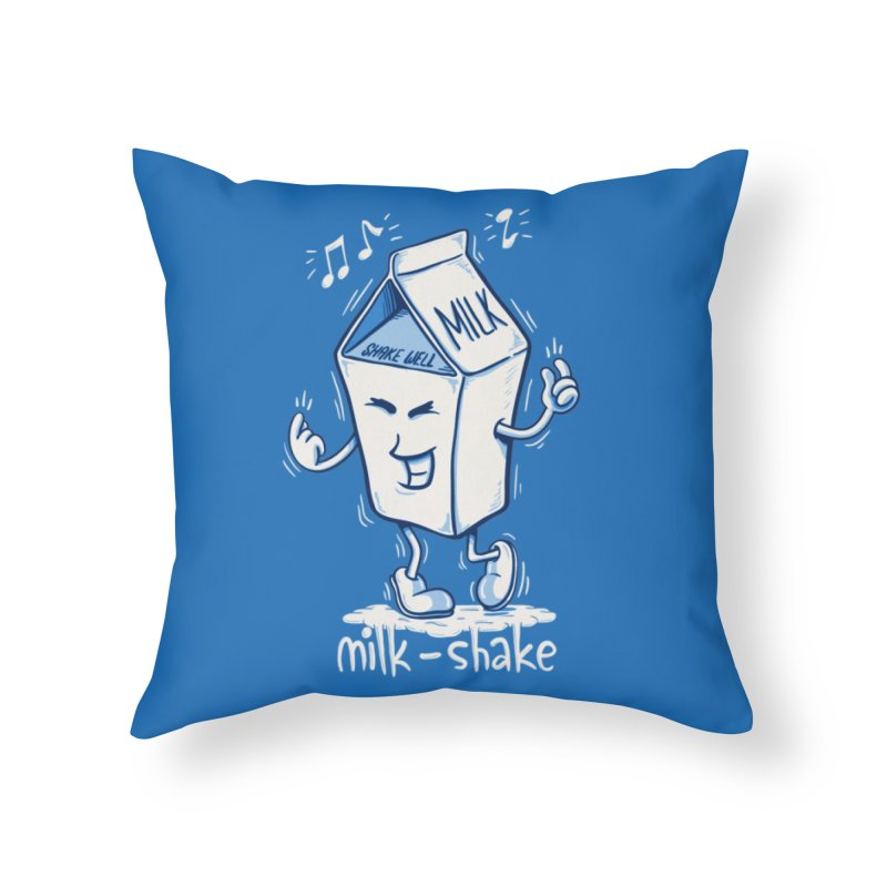 Milk-Shake Home Throw Pillow by YiannZ's Artist Shop
