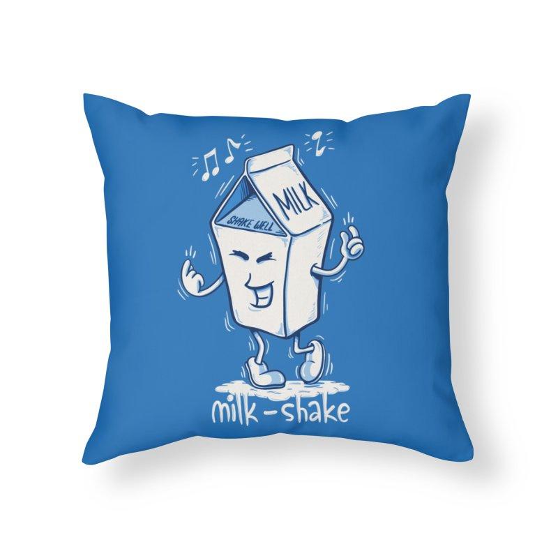 Milk-Shake Home Throw Pillow by YiannZ's Artist Shop