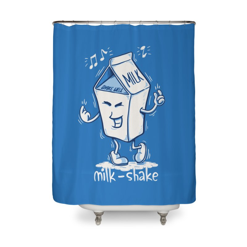 Milk-Shake Home Shower Curtain by YiannZ's Artist Shop