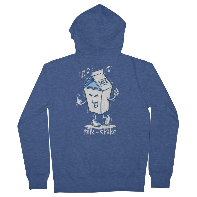 Milk-Shake Women's French Terry Zip-Up Hoody by YiannZ's Artist Shop
