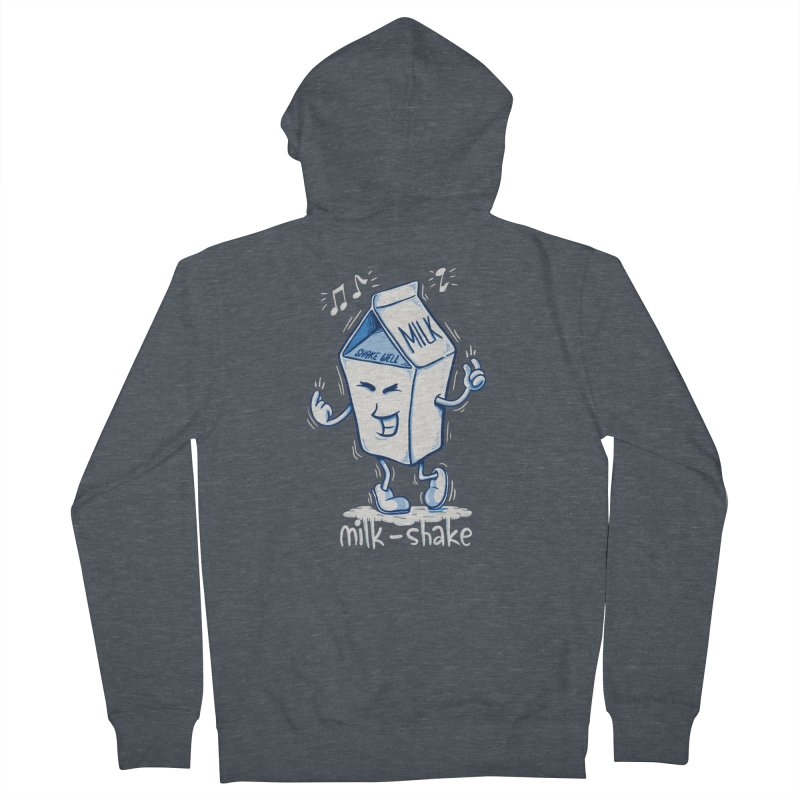 Milk-Shake Men's French Terry Zip-Up Hoody by YiannZ's Artist Shop