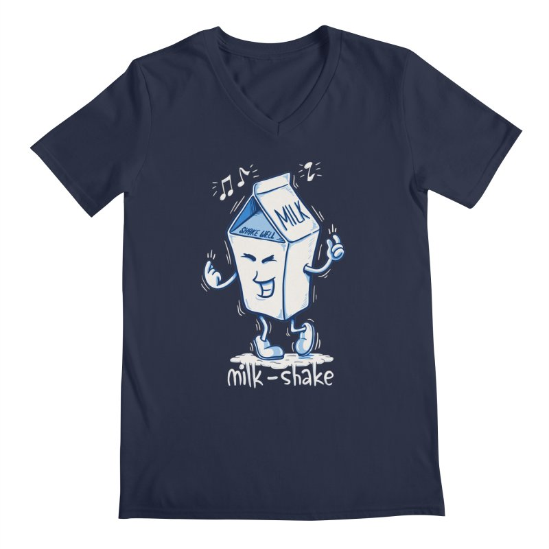 Milk-Shake Men's V-Neck by YiannZ's Artist Shop