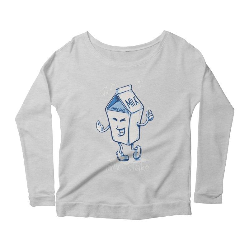 Milk-Shake Women's Longsleeve Scoopneck  by YiannZ's Artist Shop