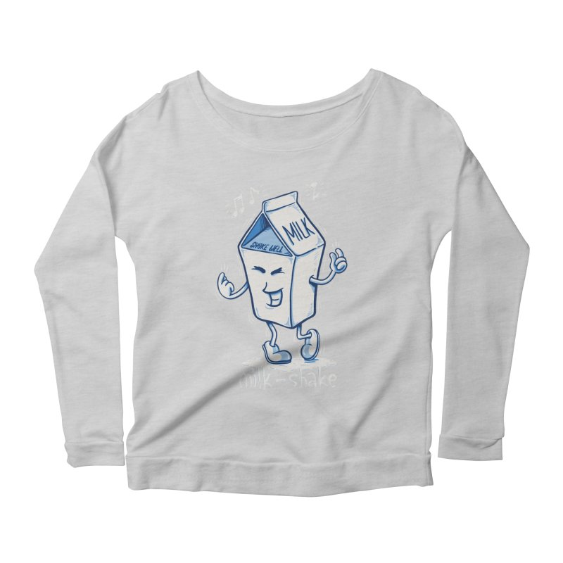 Milk-Shake Women's Scoop Neck Longsleeve T-Shirt by YiannZ's Artist Shop
