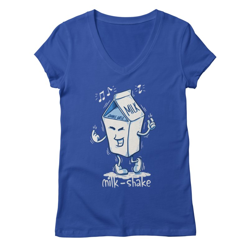 Milk-Shake Women's Regular V-Neck by YiannZ's Artist Shop