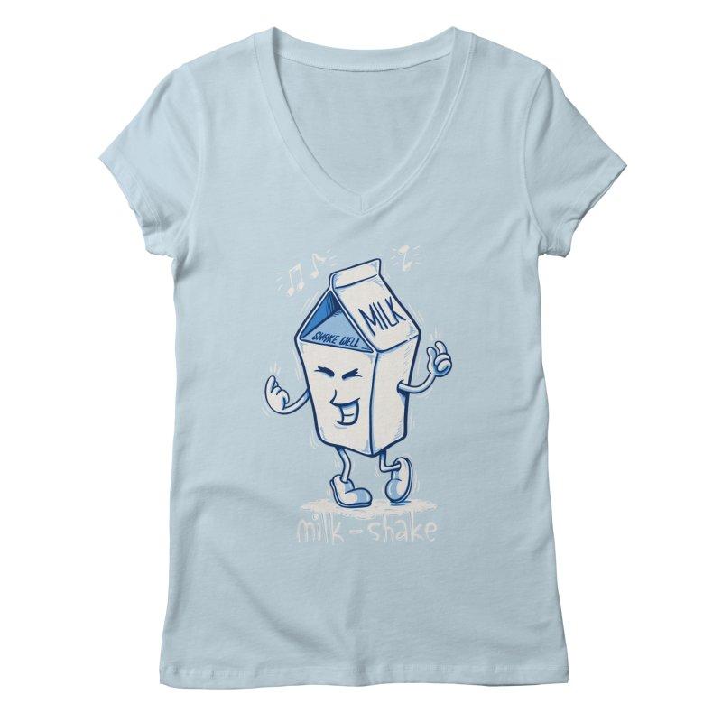 Milk-Shake Women's V-Neck by YiannZ's Artist Shop
