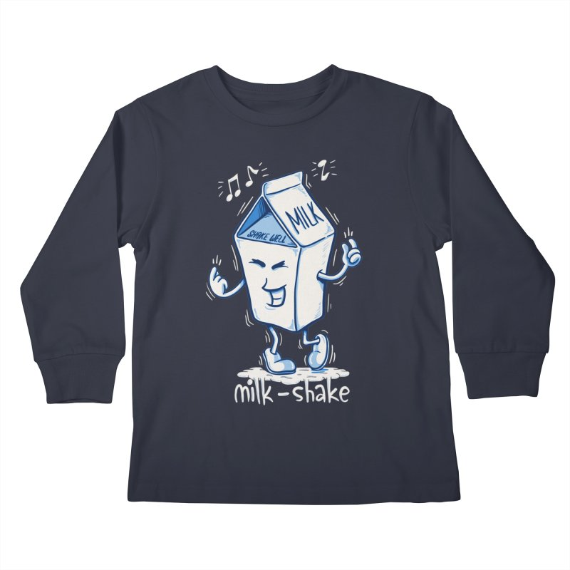 Milk-Shake Kids Longsleeve T-Shirt by YiannZ's Artist Shop