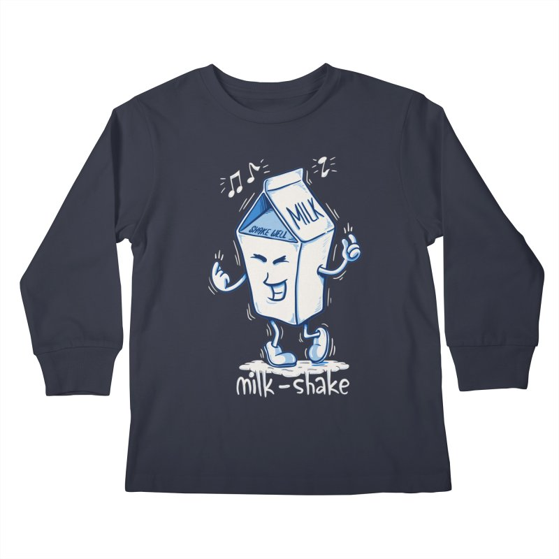 Milk-Shake Kids Longsleeve T-Shirt by YiannZ's Artist Shop