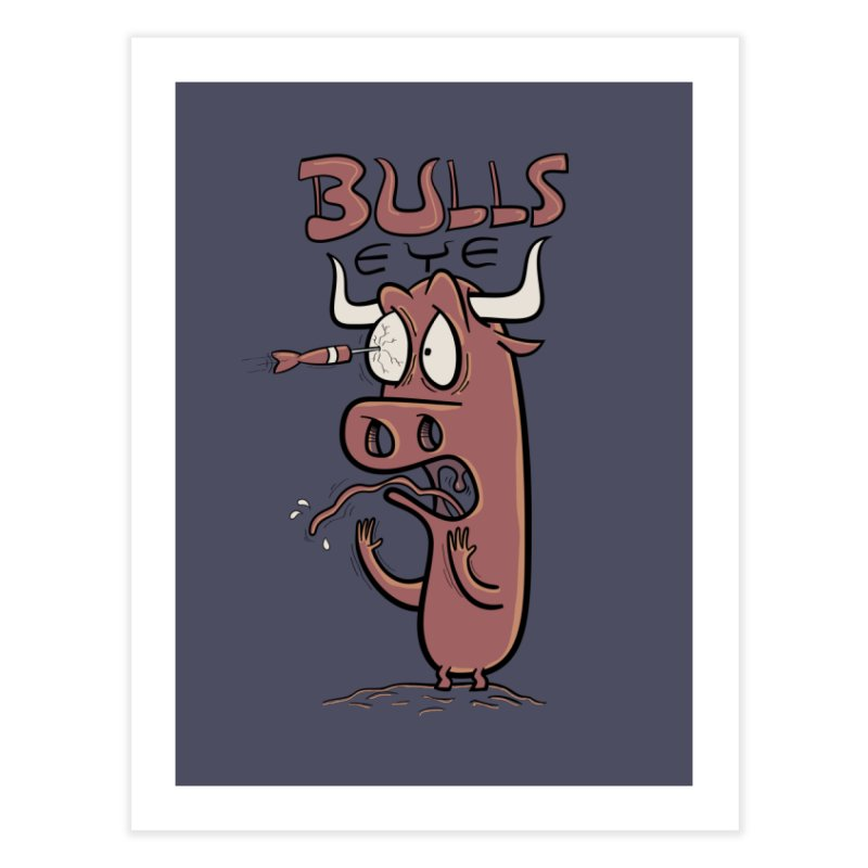 BULLS-EYE Home Fine Art Print by YiannZ's Artist Shop