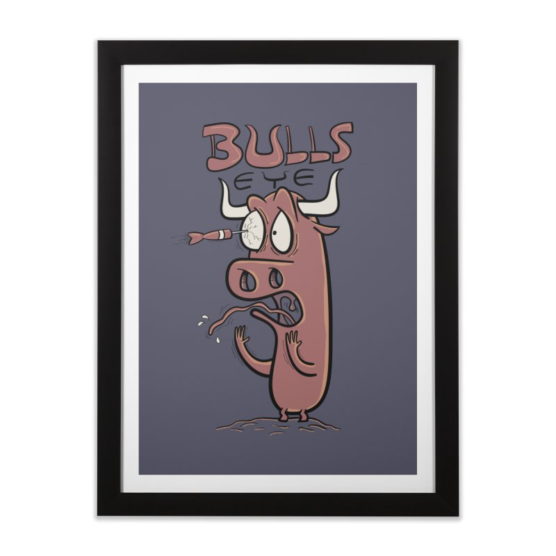 BULLS-EYE Home Framed Fine Art Print by YiannZ's Artist Shop