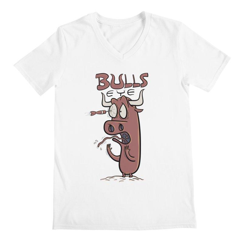 BULLS-EYE Men's V-Neck by YiannZ's Artist Shop