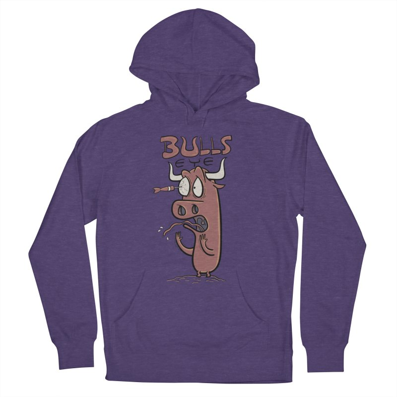 BULLS-EYE Men's French Terry Pullover Hoody by YiannZ's Artist Shop