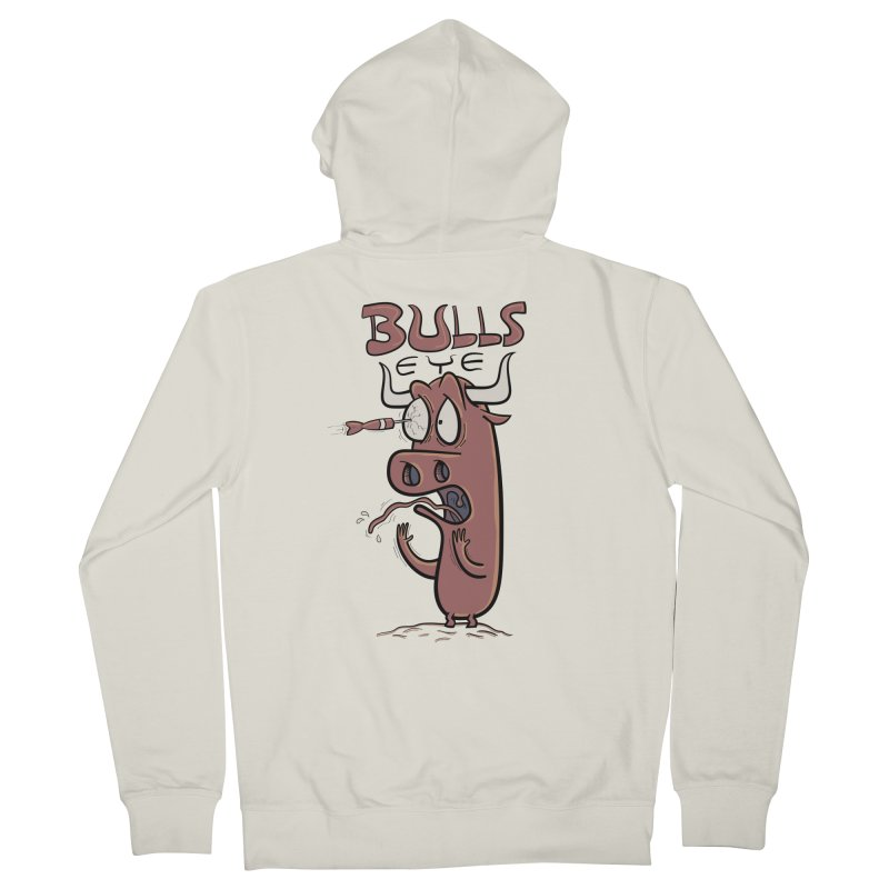 BULLS-EYE Men's French Terry Zip-Up Hoody by YiannZ's Artist Shop
