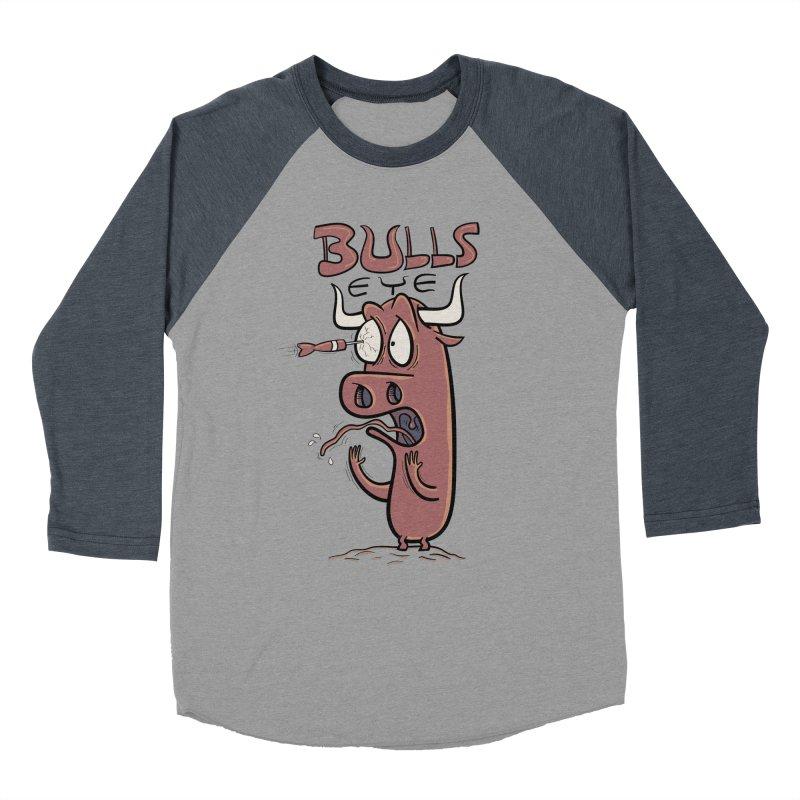 BULLS-EYE Women's Baseball Triblend Longsleeve T-Shirt by YiannZ's Artist Shop