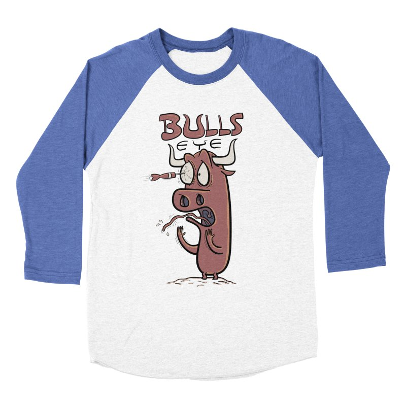 BULLS-EYE Men's Baseball Triblend T-Shirt by YiannZ's Artist Shop