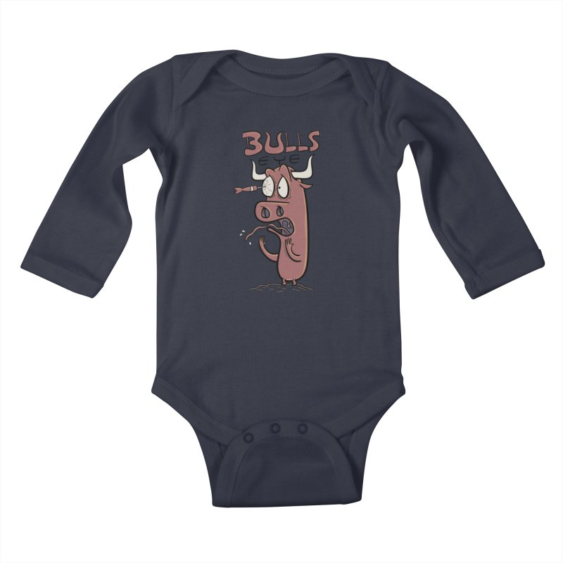 BULLS-EYE Kids Baby Longsleeve Bodysuit by YiannZ's Artist Shop