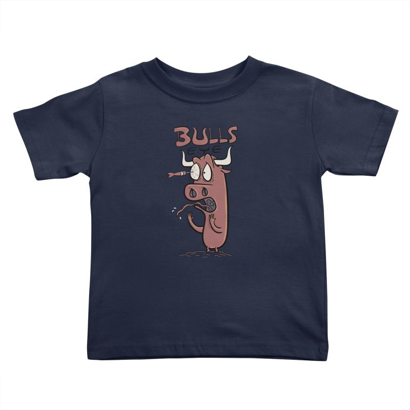 BULLS-EYE Kids Toddler T-Shirt by YiannZ's Artist Shop