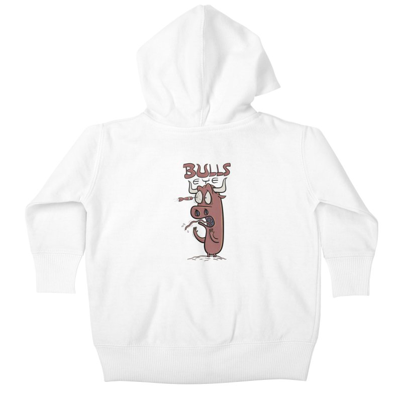 BULLS-EYE Kids Baby Zip-Up Hoody by YiannZ's Artist Shop