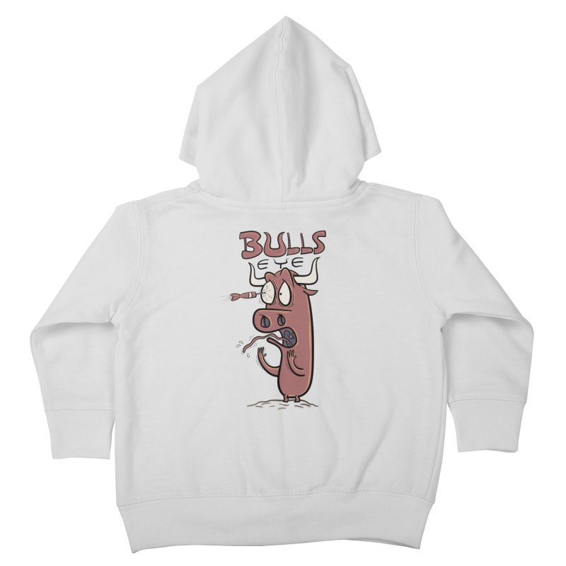 BULLS-EYE Kids Toddler Zip-Up Hoody by YiannZ's Artist Shop