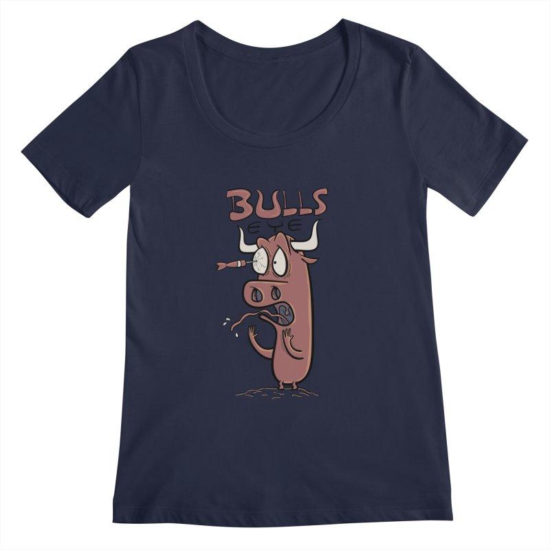BULLS-EYE Women's Scoopneck by YiannZ's Artist Shop