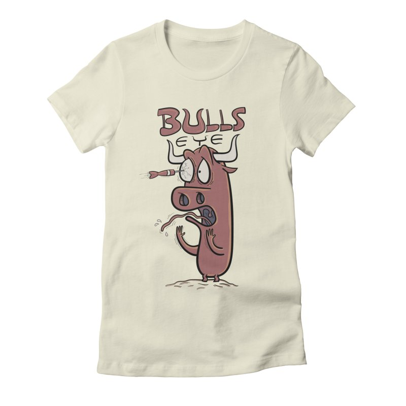BULLS-EYE Women's Fitted T-Shirt by YiannZ's Artist Shop