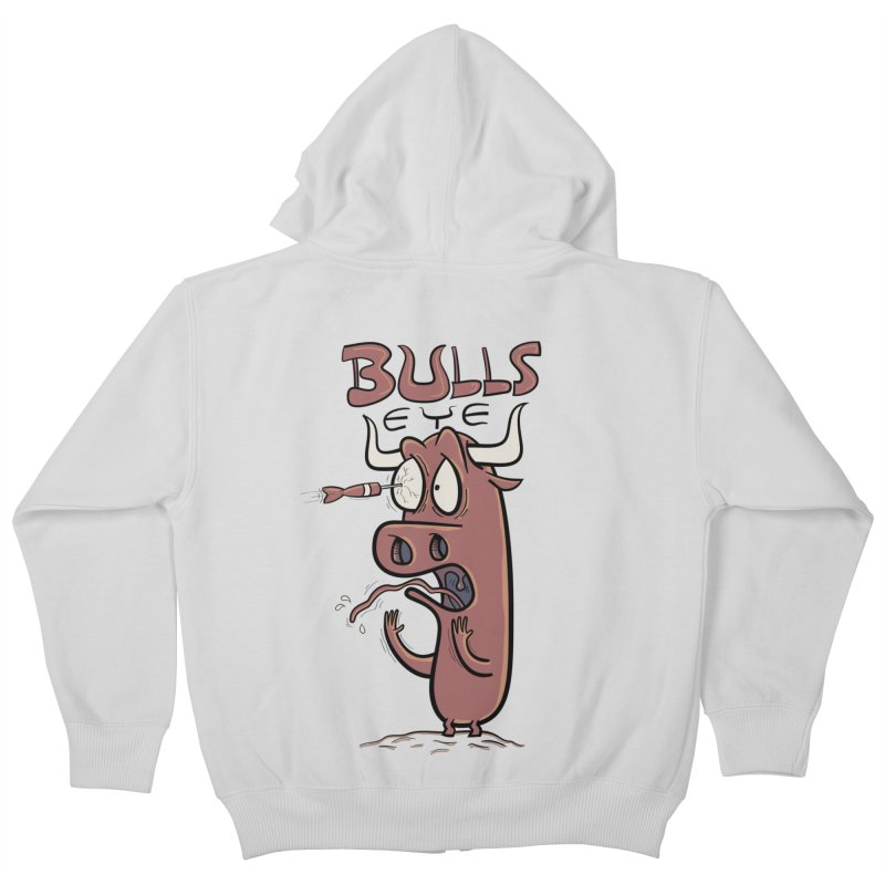 BULLS-EYE Kids Zip-Up Hoody by YiannZ's Artist Shop