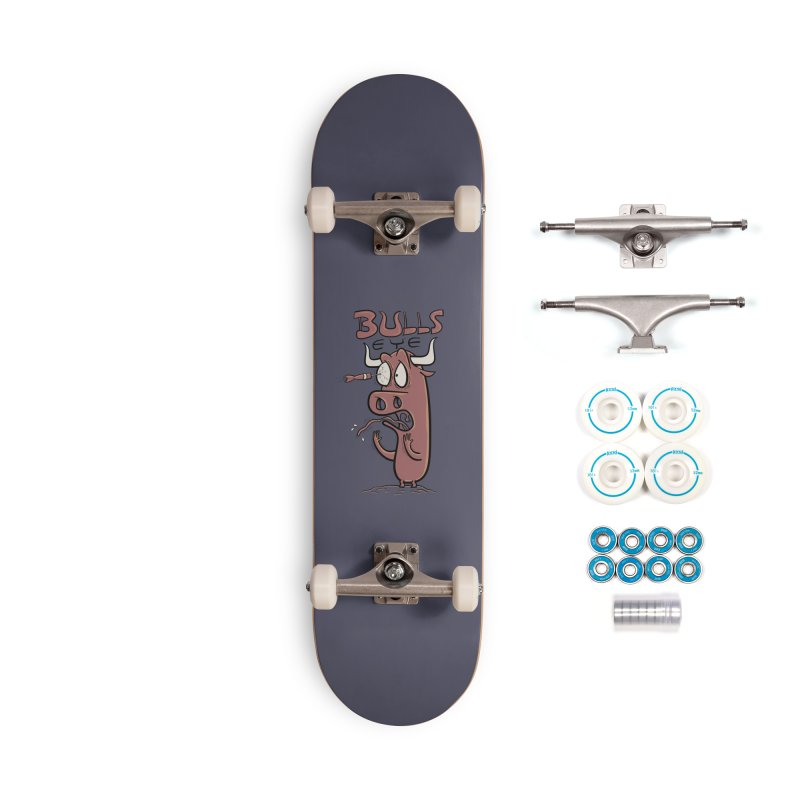 BULLS-EYE Accessories Complete - Basic Skateboard by YiannZ's Artist Shop
