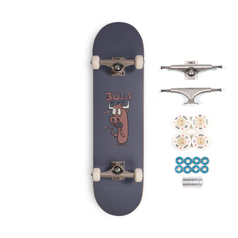 BULLS-EYE Accessories Skateboard by YiannZ's Artist Shop