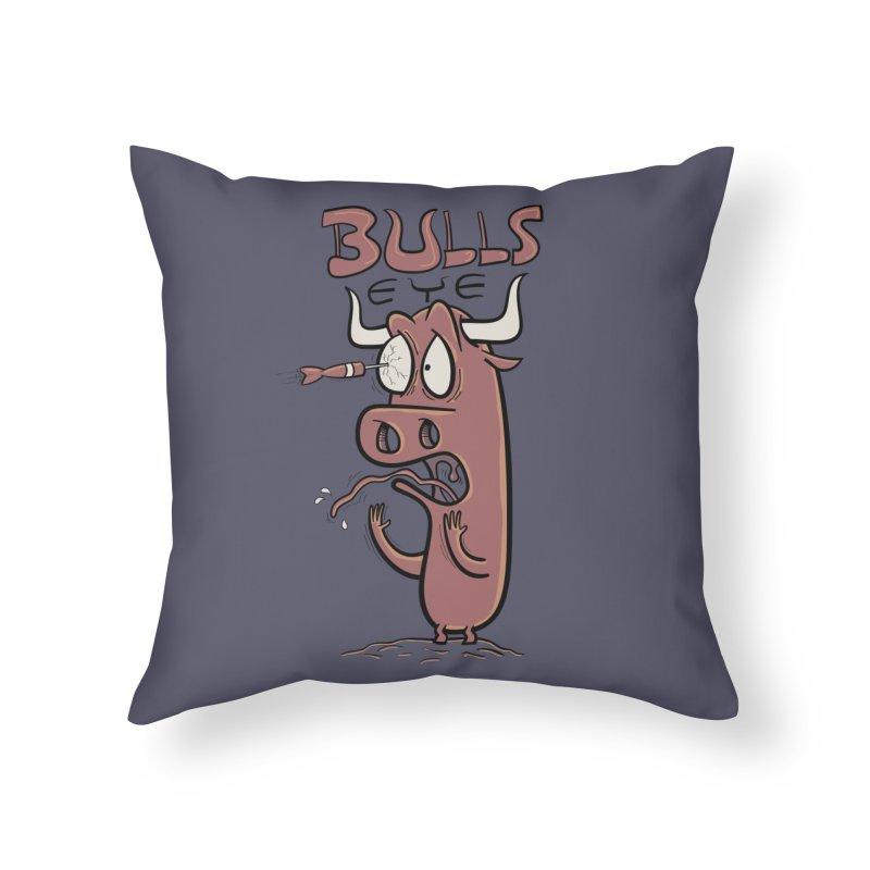 BULLS-EYE Home Throw Pillow by YiannZ's Artist Shop