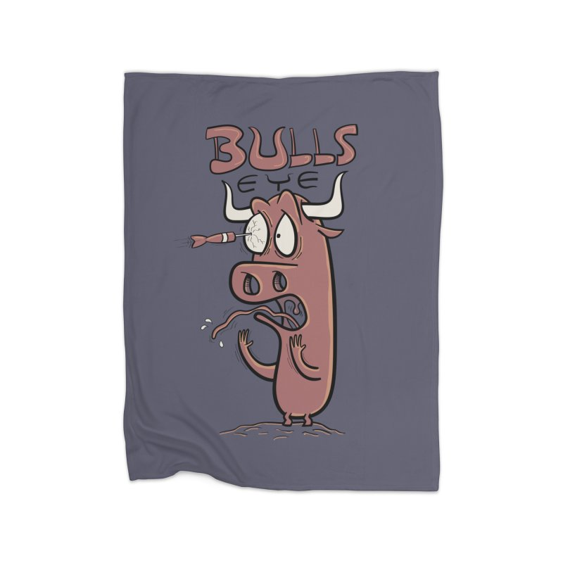 BULLS-EYE Home Fleece Blanket Blanket by YiannZ's Artist Shop