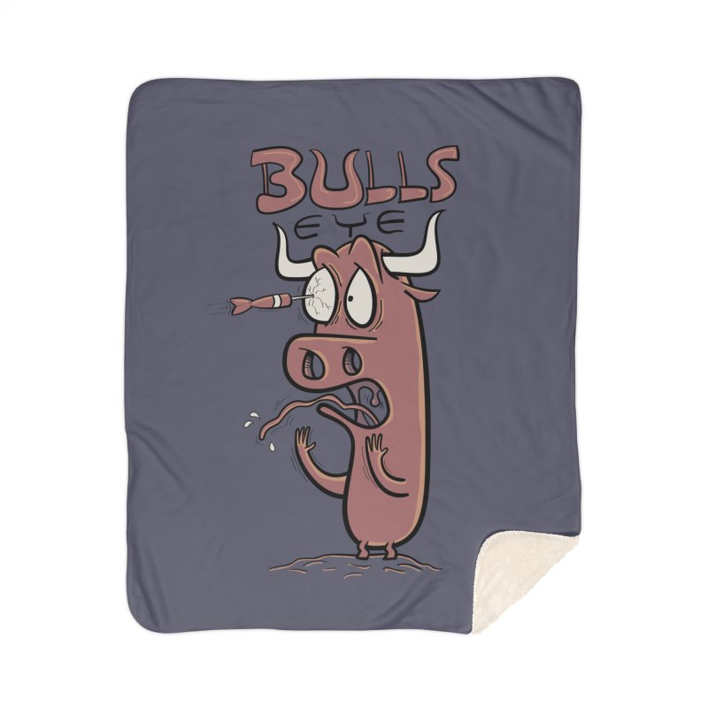 BULLS-EYE Home Sherpa Blanket Blanket by YiannZ's Artist Shop