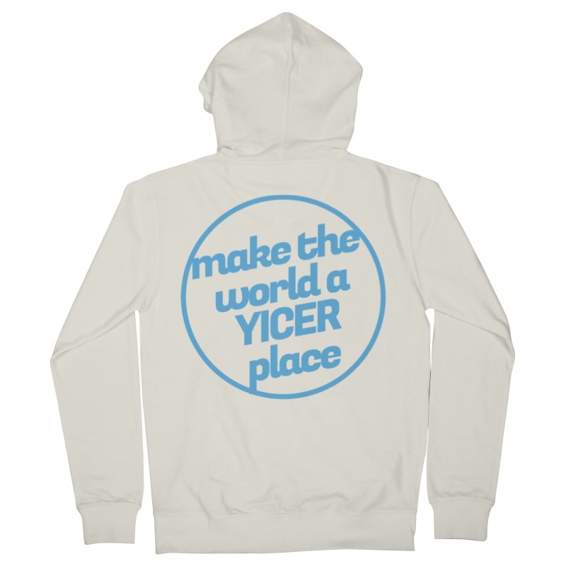 Make the World a Yicer Place Men's Zip-Up Hoody by Yices's Artist Shop