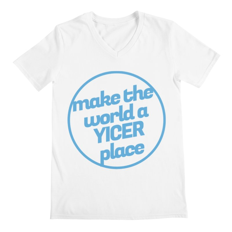 Make the World a Yicer Place Men's V-Neck by Yices's Artist Shop