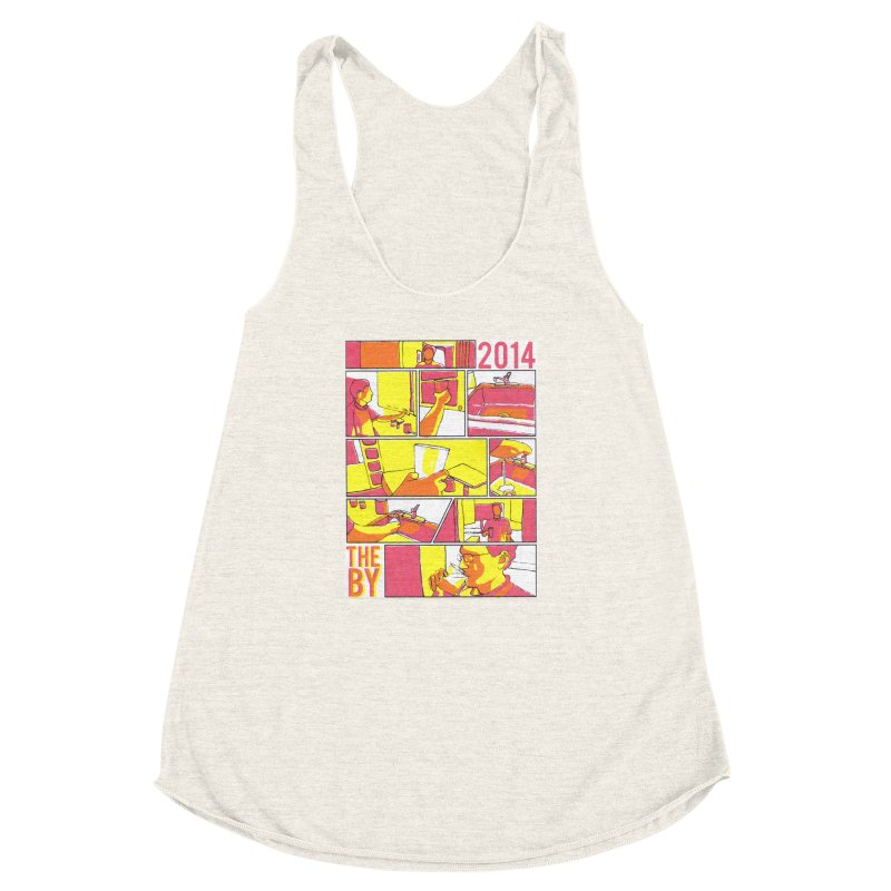 The By Women's Racerback Triblend Tank by Yices's Artist Shop