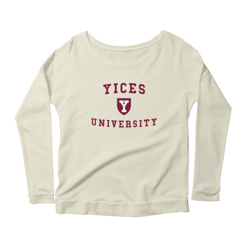 Yices University Women's Longsleeve Scoopneck  by Yices's Artist Shop