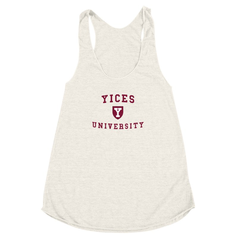 Yices University Women's Racerback Triblend Tank by Yices's Artist Shop