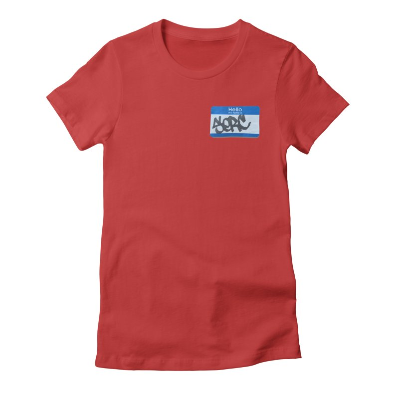 Hello Serc Women's Fitted T-Shirt by Yices's Artist Shop