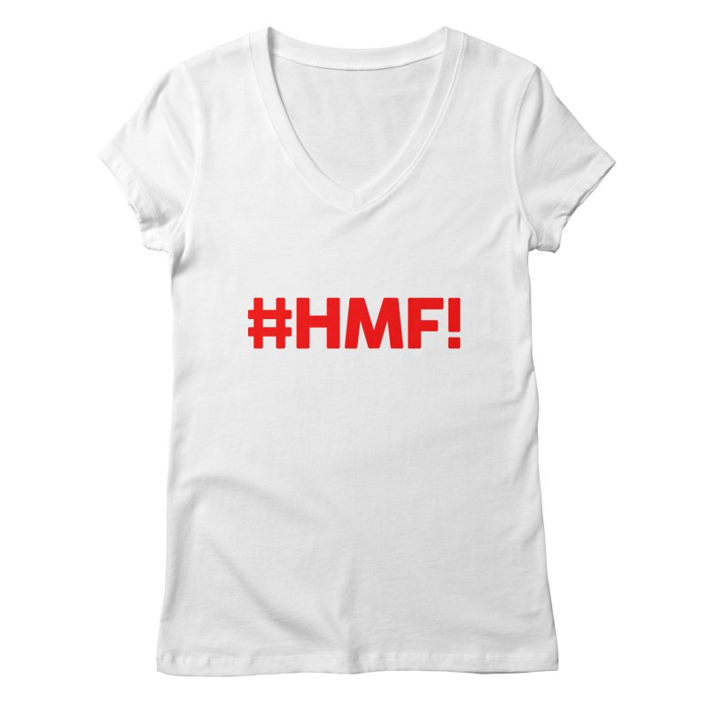 HMF! Women's Regular V-Neck by YA! Store