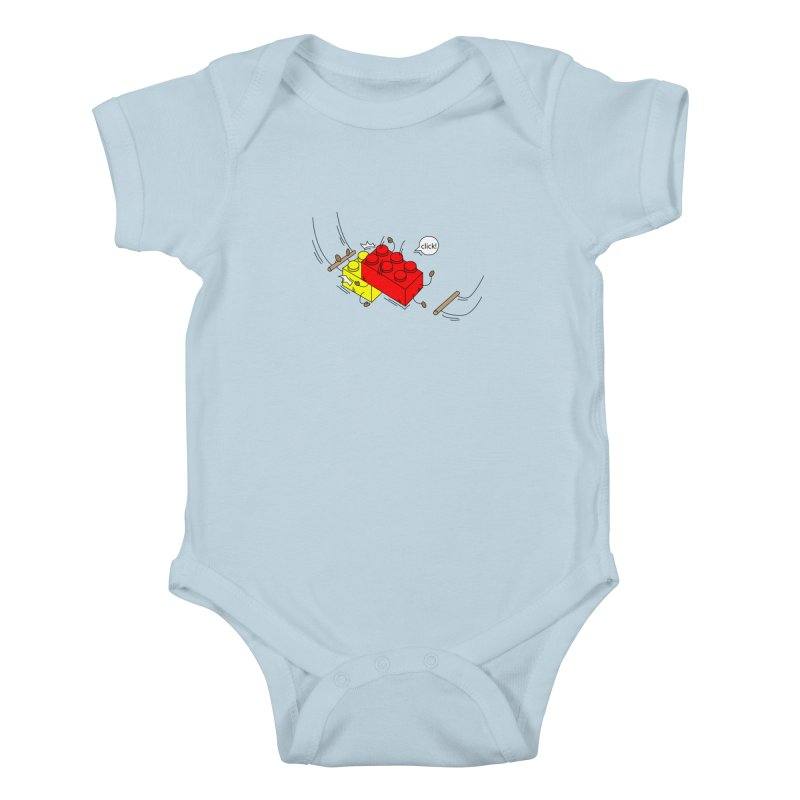 Lego Click! Kids Baby Bodysuit by Shop Yildiray Atas