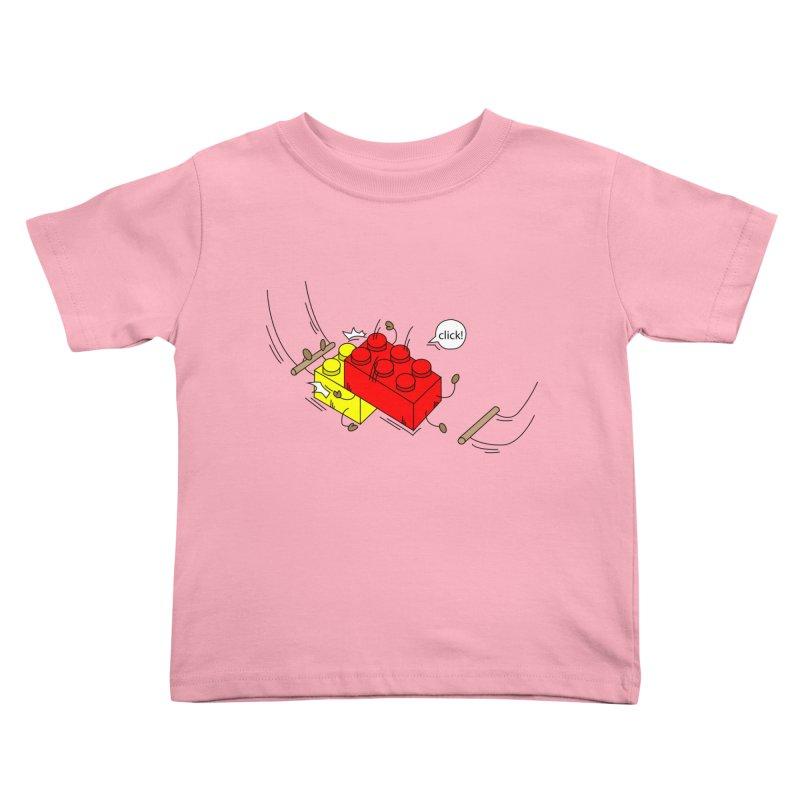 Lego Click! Kids Toddler T-Shirt by Shop Yildiray Atas