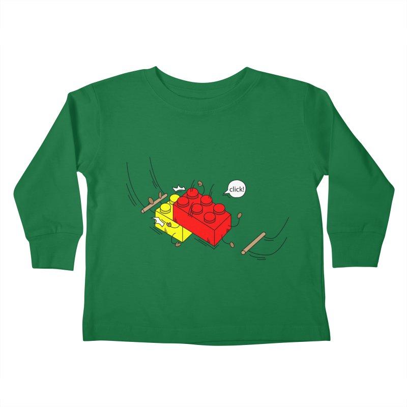 Lego Click! Kids Toddler Longsleeve T-Shirt by YA! Store