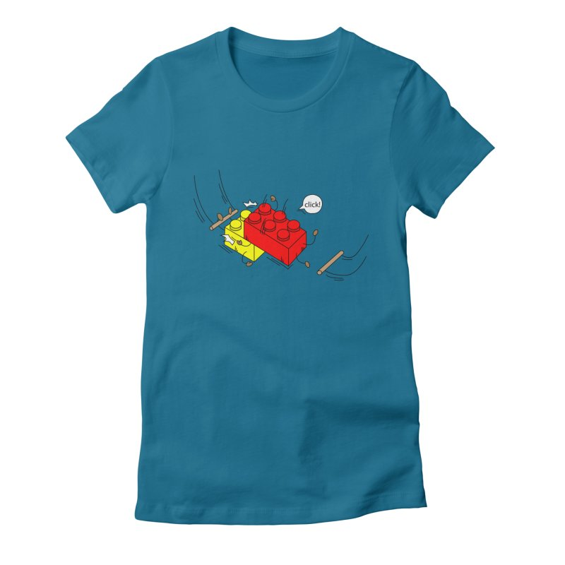 Lego Click! Women's Fitted T-Shirt by Shop Yildiray Atas