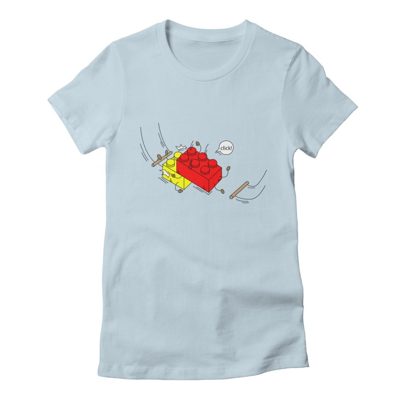 Lego Click! Women's Fitted T-Shirt by YA! Store