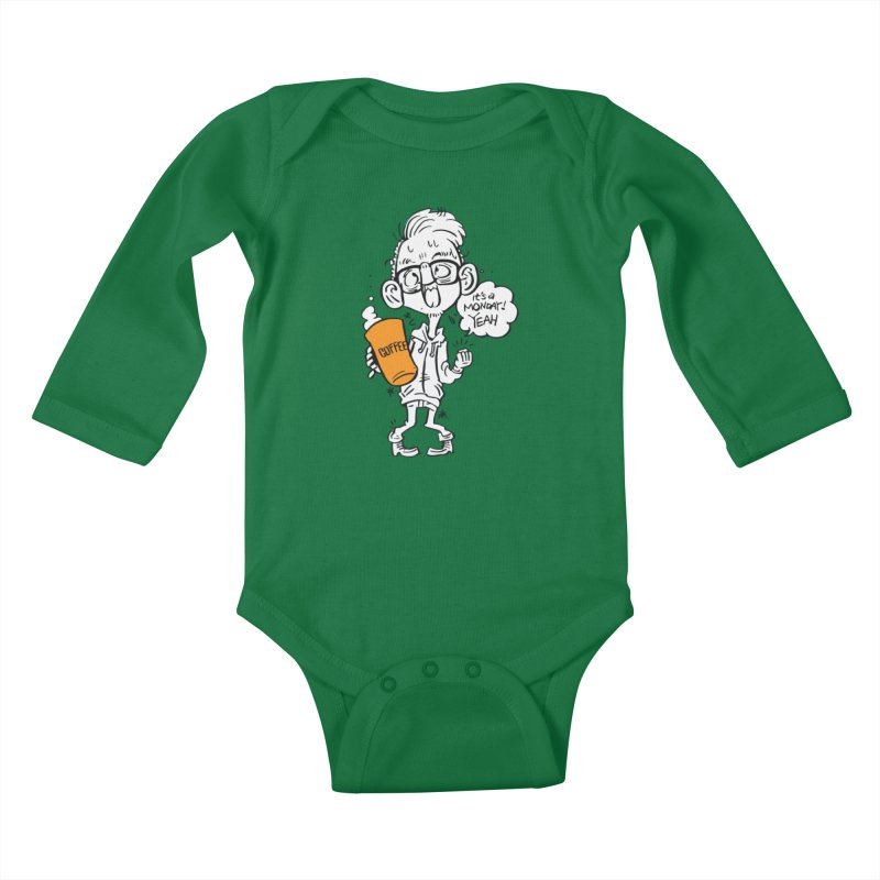 Drunk Monday Kids Baby Longsleeve Bodysuit by Shop Yildiray Atas