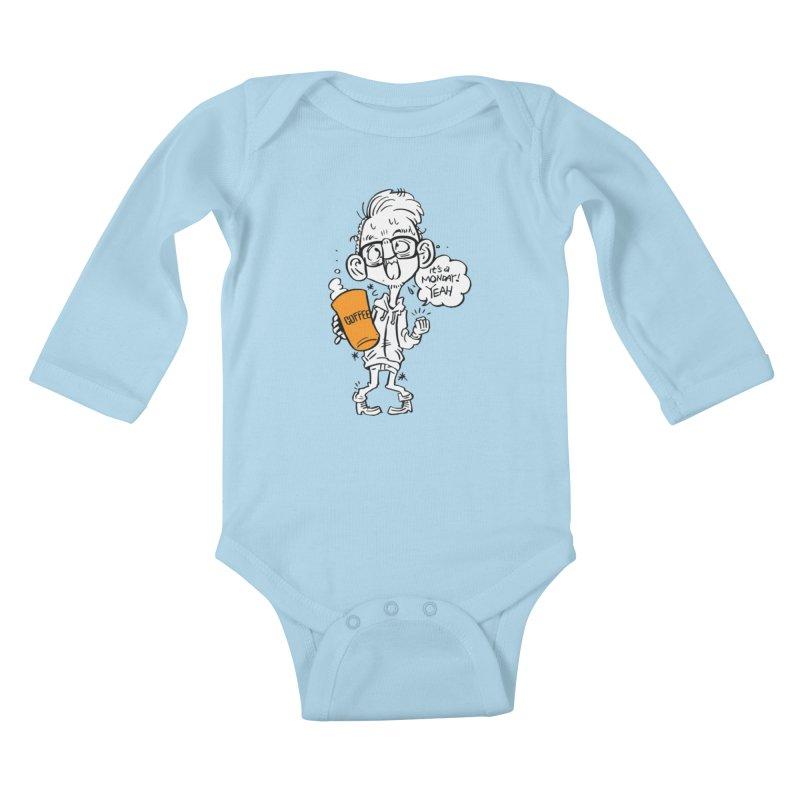 Drunk Monday Kids Baby Longsleeve Bodysuit by Shop Yildiray Atas