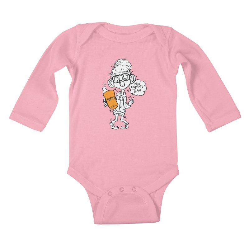 Drunk Monday Kids Baby Longsleeve Bodysuit by YA! Store