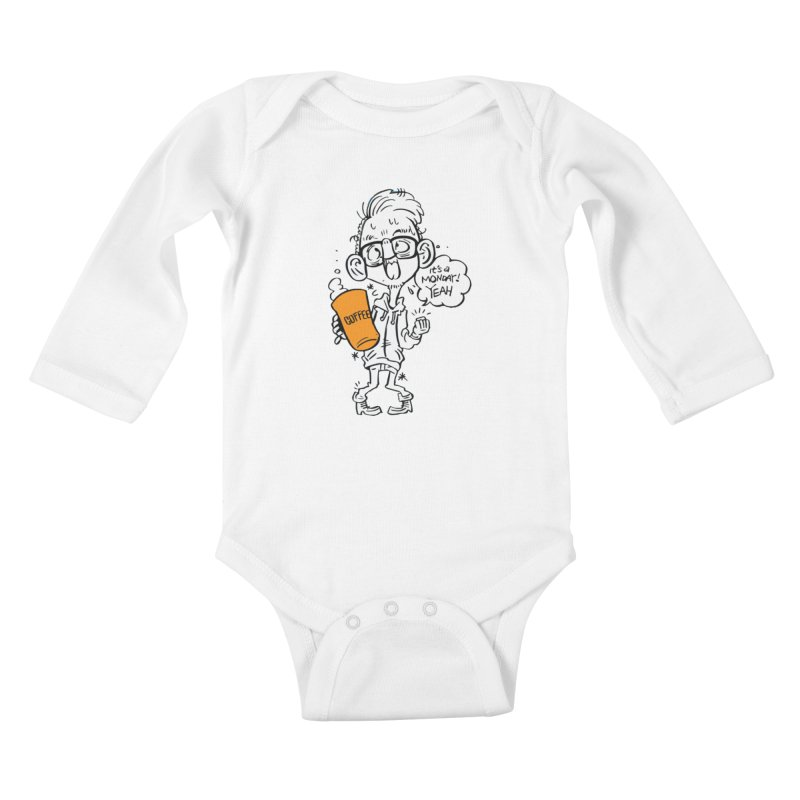 Drunk Monday Kids Baby Longsleeve Bodysuit by YA! Store