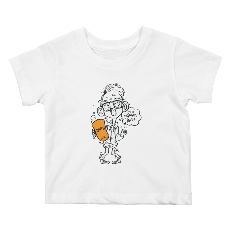 Drunk Monday Kids Baby T-Shirt by Shop Yildiray Atas