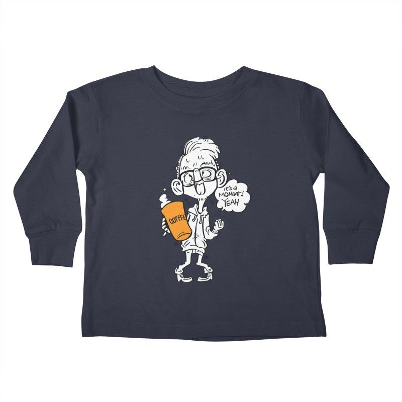 Drunk Monday Kids Toddler Longsleeve T-Shirt by Shop Yildiray Atas
